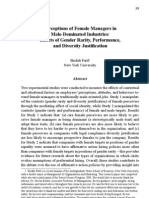 Perceptions of Female Managers