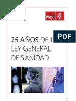 25 Aniversario de La Ley General de Sanidad