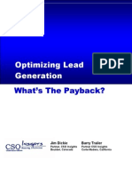 Optimizing Lead Generation
