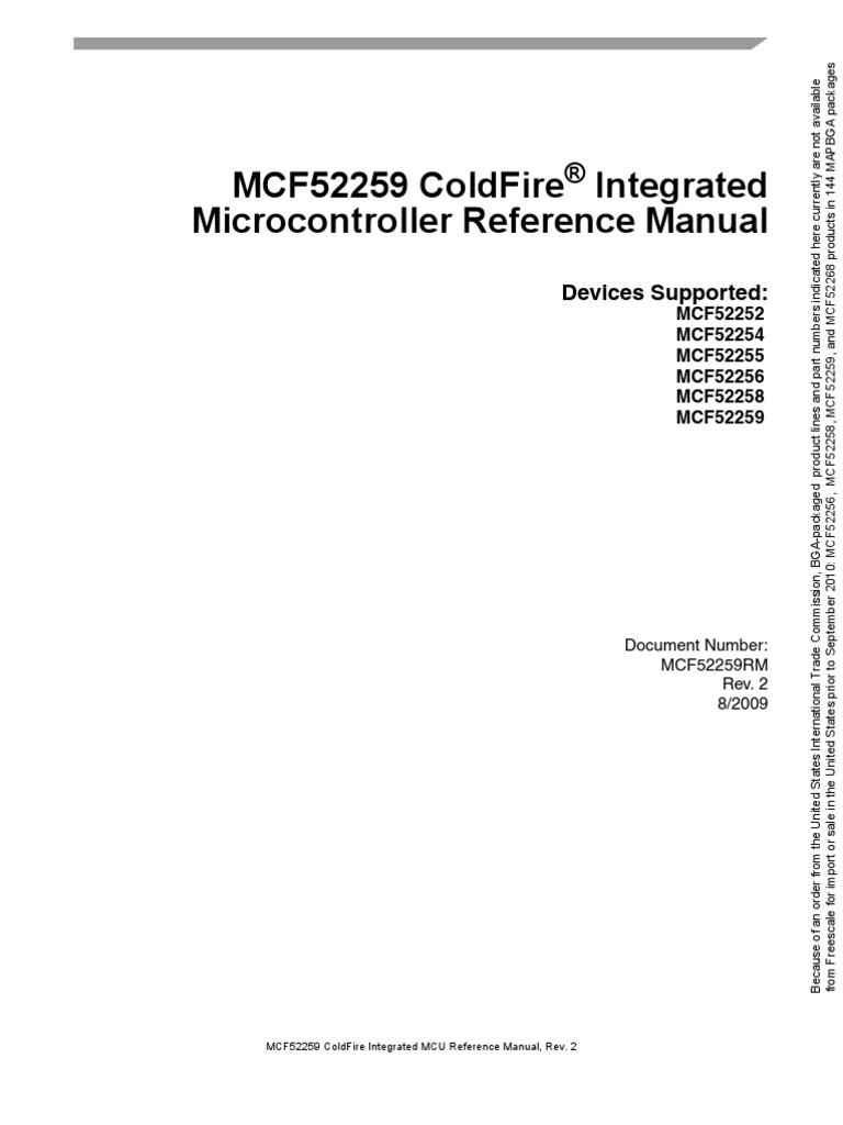 MCF52259RM Manual | Random Access Memory | Computer Hardware