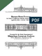 Russian Hymn Festival 2011 Program