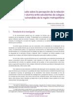 Estudio de la Percepción Alumno- Profesor
