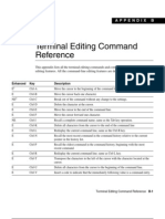 CISCO KEYS Terminal Editing Command