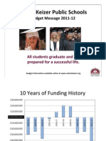 Salem-Keizer Schools Budget Message 2011-12