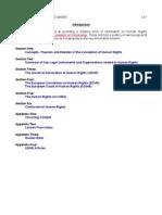 Human Rights Briefing Sheet 2010