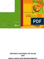 Encuesta Nacional de Salud 2007 Antioquia