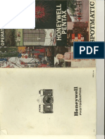 Spotmatic SP Users Manual - for printing out