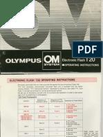 Olympus T20 Flash owner's manual
