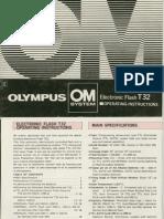 Olympus T32 Flash owner's manual