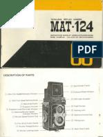 YASHICA MAT-124 user's manual