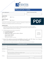 Aventis Application Form