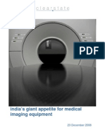 India Giant Appetite for Medical Imaging Equipment (clearstate)