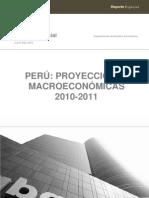 35189739 Proyecciones Macro Economic As Para El Peru 2010 2011