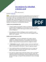 Una guía para mejorar la velocidad lectora en la lectura oral