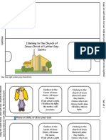 I Belong to the Church Activity Card Slide