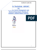 Project Report on Inventory Control