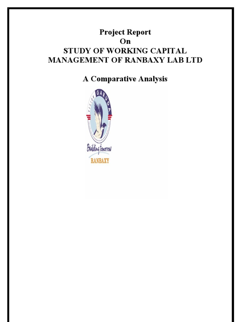 Project report on working capital clinical trial pharmaceutical industry
