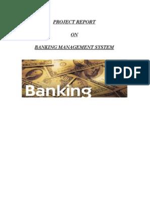 Project Report_Banking Management System   Microsoft Sql Server   Sql