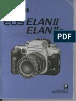 Canon Elan IIe owner's manual