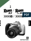 Canon Rebel K2 - 35mm SLR Camera owner's manual