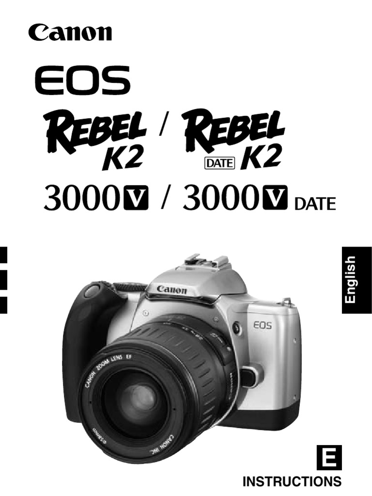 canon rebel k2 35mm slr camera owner s manual exposure rh scribd com Canon EOS Rebel G Manual Canon EOS Battery Charger