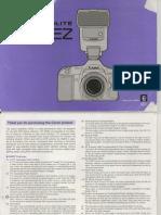 Canon Speedlite 540EZ - owner's manual