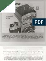 Pentax SuperLite II Flash - owner's manual