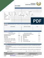 Application Form 2011 Sarawak Maritime