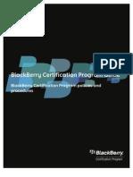Blackberry Certification Program Guide