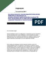 Noticias uruguayas 27 abril 2011