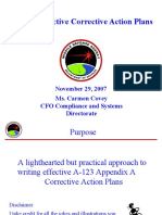 Writing Effective Corrective Action Plans