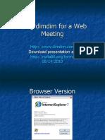 Using Dimdim for a Web Meeting