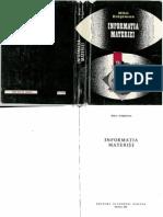 Mihai Draganescu - Informatia Materiei Ed. Academiei 1990 - Extrase si glosar