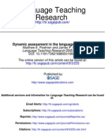 Poehner & Lnatolf - Dynamic Assessment in the Language Classroom