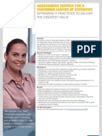 Assessment Service for a Customer Center of Expertise
