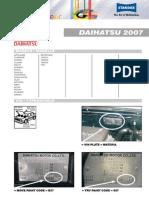 DAIHATSU Color Info Mat Ion