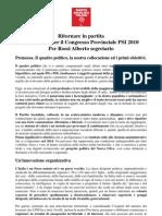 Documento e Delibera Congressuale PSI Livorno