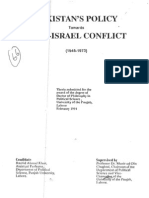 PAKISTANS POLICY TOWARDS ARAB-ISRAEL CONFLICT (1948-1973)