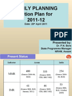 FAMILY PLANNING Action Plan for 2011-12(for Workshop 20th)