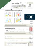 Ficha de  Diagnóstico de Matemática 6ºAno 2010-2011