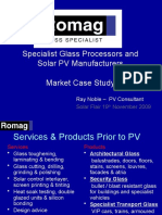 Session 3 - Specialist Glass Processors and Solar PV Manufacturers Presented by Ray Noble