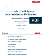Session 4 - The Role of Efficiency in a Residential PV Market Presented by Christian Comes