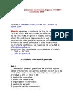 Legea Privind Procedura Insolventei,LG Nr.85-2006