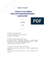 Rudolf Steiner - A világ és az ember szellemi megismerésének alapelemei