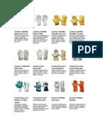tipos de guantes