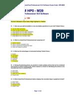 Hp Qtp 10.0 Exam Hp0 m39-09 Jan11