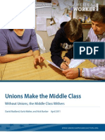 Unions Make the Middle Class