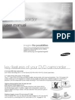 Samsung Dvd Camcorder VP-dx100 Eng Ib 0725-b