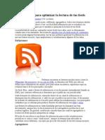 Herramientas para optimizar la lectura de tus feeds