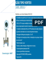 Medidor de Vazao Para Gas Liquido Vortex